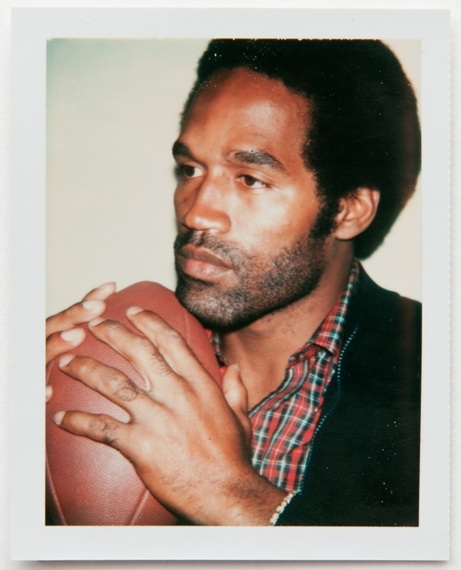 Andy Warhol, 'Andy Warhol, Polaroid Photograph of OJ Simpson Holding a Football, 1977', 1977, Photography, Polaroid, Hedges Projects