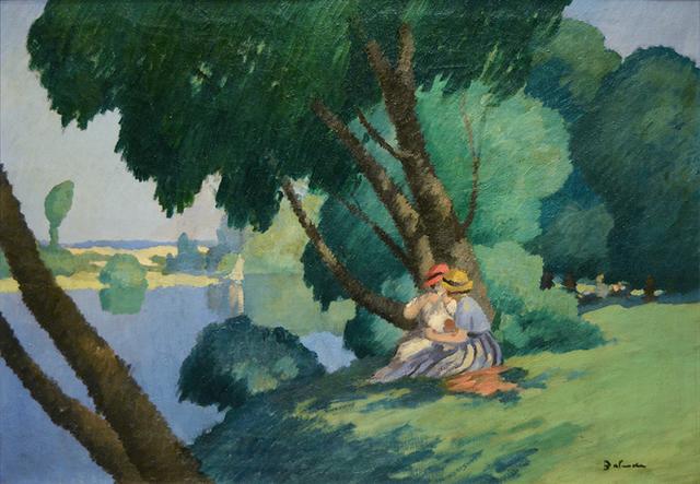 Gaston Balande, 'Déjeuner au bord de la Seine', 1880-1971, Guarisco Gallery