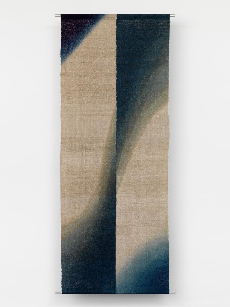 Shihoko Fukumoto, Okusozakkuri, H 175 x W 68 cm, Indigo dyed hemp