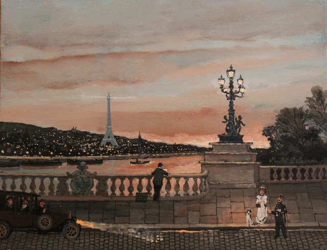 , 'Pont Alexandre III au coucher du soleil ,' , Hugo Galerie