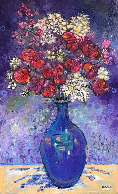 , 'Flowers in a blue Vase,' 2018, Gallery 901