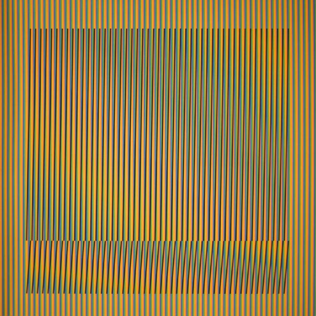 Carlos Cruz-Diez, 'Induction Chromatique a double frequence Orinoco 5', 2018, Polígrafa Obra Gráfica