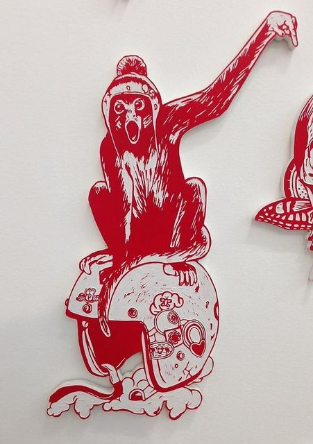 , 'Monkey on Helmet,' 2014, Mark Moore Fine Art