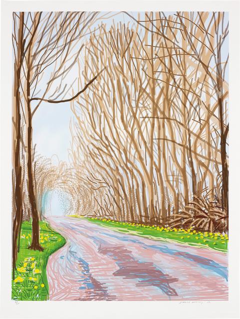 David Hockney, '1 April, from The Arrival of Spring in Woldgate, East Yorkshire in 2011 (twenty eleven)', 2011, Phillips