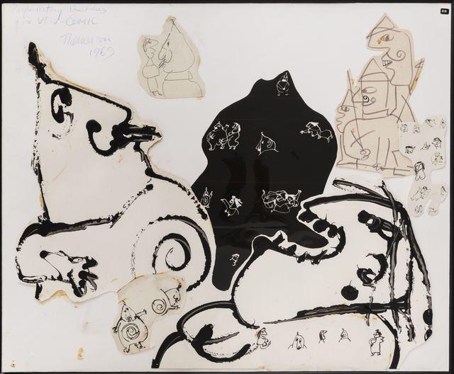 Franciszka Themerson, 'Pere at Mere Ubu, Comic Strip Studies', 1969, Richard Saltoun