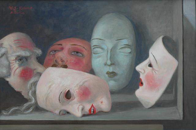 Volker Stelzmann, 'Fünf Masken', 2016, DIE GALERIE