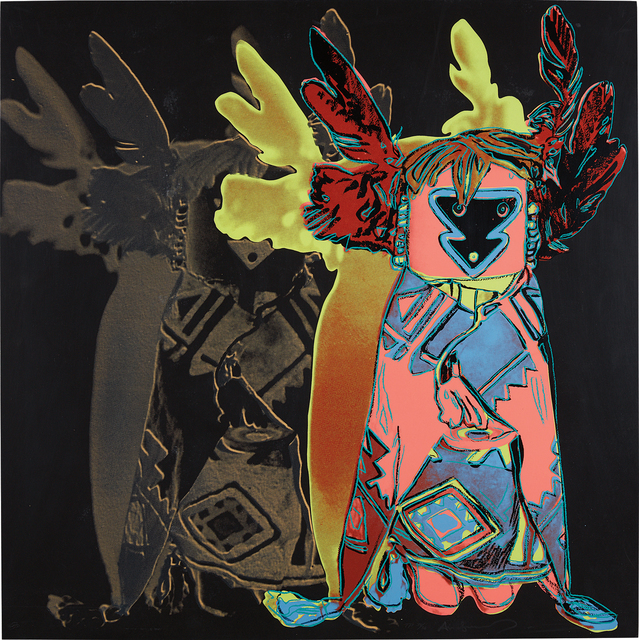 Andy Warhol, 'Kachina Doll, from Cowboys and Indians', 1986, Print, Unique screenprint in colors, on Lenox Museum Board, the full sheet, Phillips