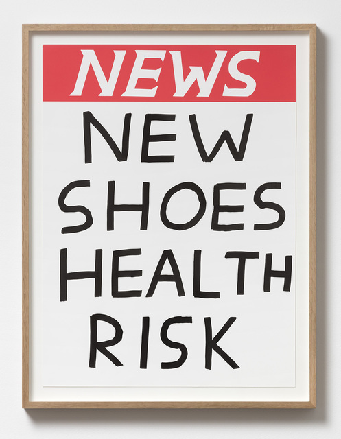 , 'Untitled (New shoes health risk),' 2017, Galleri Nicolai Wallner