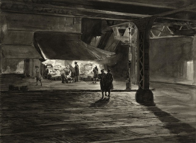 , 'Yorkville Night. (Study),' 1947, The Old Print Shop, Inc.