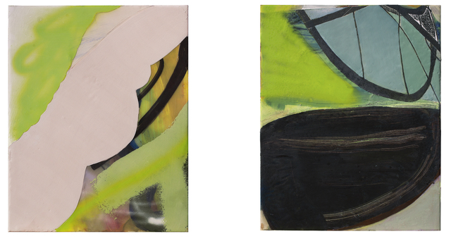 , 'She Said He Sadi (diptych),' 2012, David Richard Gallery