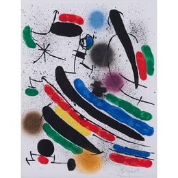 Miró Lithographe 1, planche 13