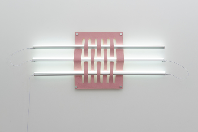 , 'Untitled (Light Weave No. 2 - pink),' 2019, Eleanor Harwood Gallery