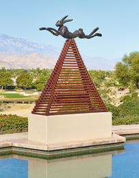 Barry Flanagan, 'Six Foot Leaping Hare on Steel Pyramid,' 1990, Sotheby's: Contemporary Art Day Auction