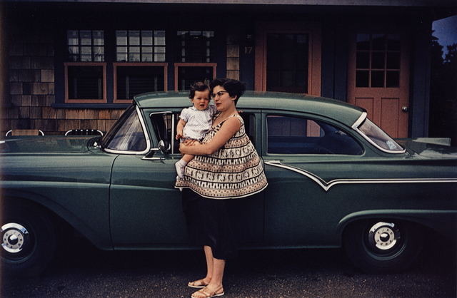 , 'Americans in Kodachrome 1945-65, Mother with Green Ford, Pocasset, Massachusetts.  Photographer: Walter Dufresne, Jr.,' 1957, ROSEGALLERY