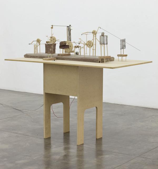 O Grivo, 'Complex Machine # 02', 2009, Installation, Wood, wire, nylon, cotton, metal and engine, Galeria Nara Roesler
