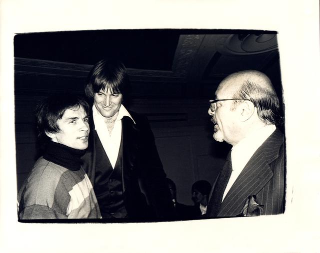 , 'Andy Warhol, Photograph of Rudolf Nureyev, Bruce Jenner, and Ahmet Ertegen circa 1982,' ca. 1982, Hedges Projects