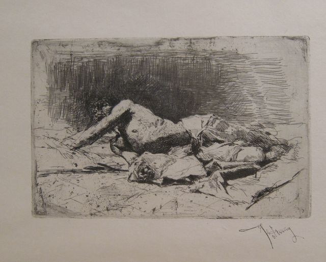 Mariano Fortuny, 'Man lying on the floor', not dated, Artur Ramon Art