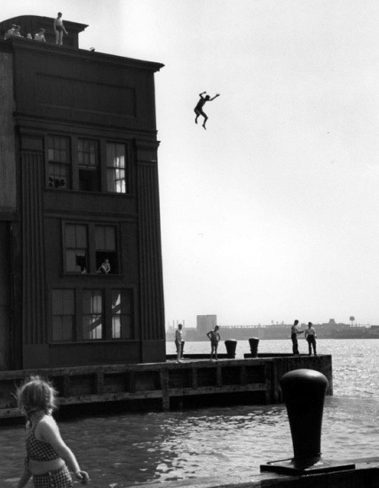 , 'Boy Jumping into Hudson River, New York City,' 1948, Lumiere Brothers Gallery
