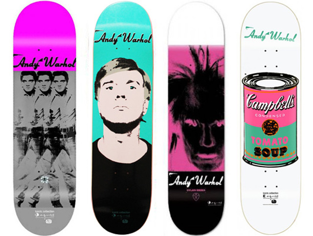 Andy Warhol, 'Skateboard, Set of 4', 2009, Print, Skateboard Deck, EHC Fine Art Gallery Auction