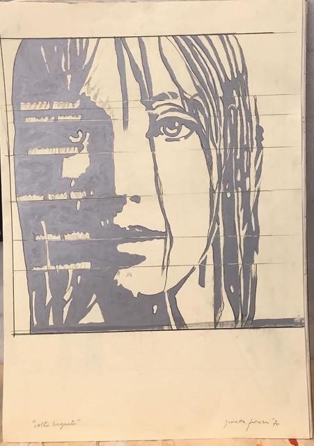 Giosetta Fioroni, 'Volto Bagnato', 1970, Valli Art Gallery