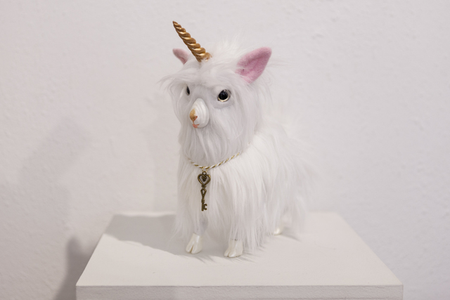 ", 'Guardian Yeticorn ""Lewis"",' 2017, Flower Pepper Gallery"