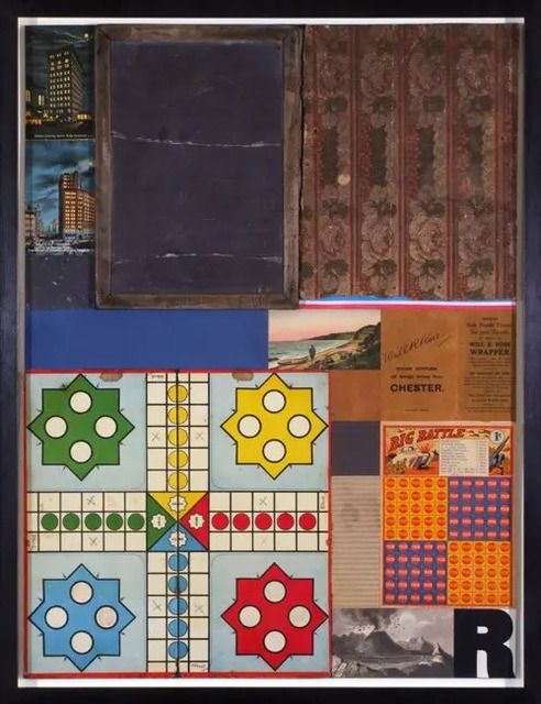 Peter Blake, 'Children's Games - Ludo (in homage to Robert Rauschenberg)', 2010, Mixed Media, Collage with found objects, Tanya Baxter Contemporary