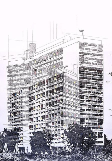 , 'Unité d habitation 4,' 2016, Galería Quetzalli