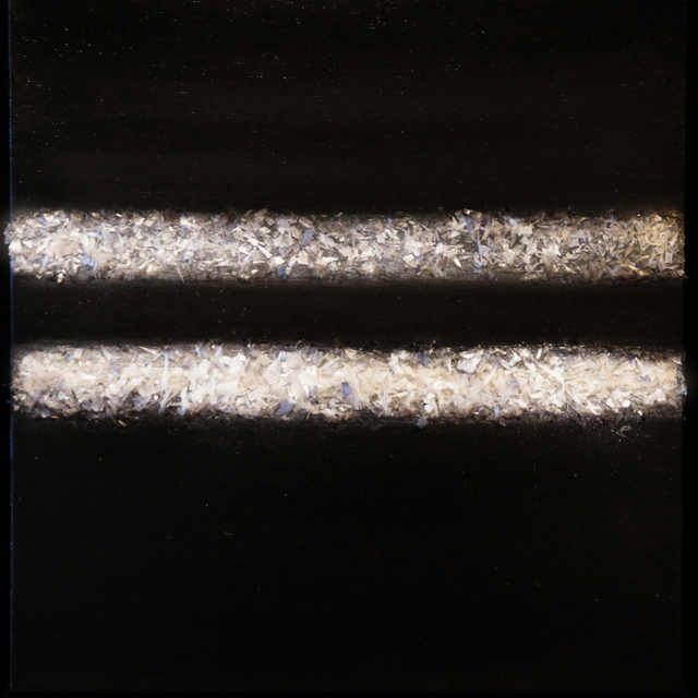 Arica Hilton, 'Black Pearl', 2020, Mixed Media, Oil on Canvas with Recycled Plastic, Hilton Asmus