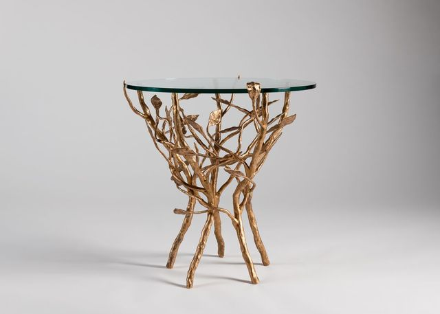 Marc Bankowsky, 'Vent dans les Feuilles, Side Table', France-2014, Design/Decorative Art, Bronze, glass, Maison Gerard