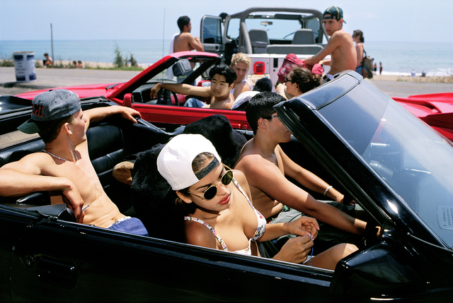 Lauren Greenfield, 'Mijanou, 18, who was voted Best Physique at Beverly Hills High School, skips class to go to the beach with friends on the annual Senior Beach Day, Santa Monica, California', 1993, Fahey/Klein Gallery