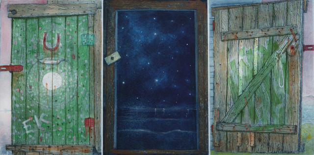 , 'Ephraim Kelloway's Door, study,' 2017, Winchester Galleries