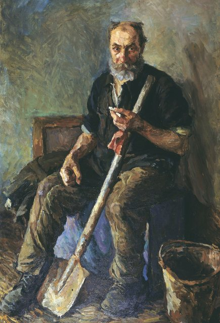 , 'Street sweeper,' 1951, Surikov Foundation