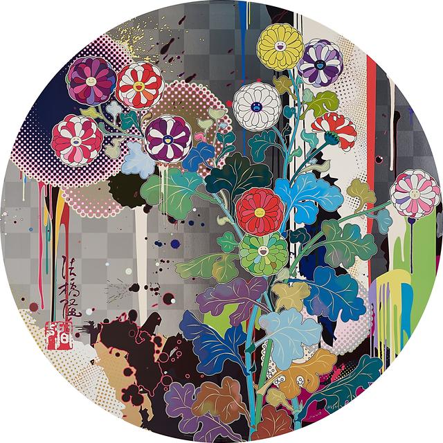 Takashi Murakami, 'Sansei Korin Gold and With Reverence I Lay Myself Before You (Korin - Chrysanthemum)', 2009, Rago/Wright