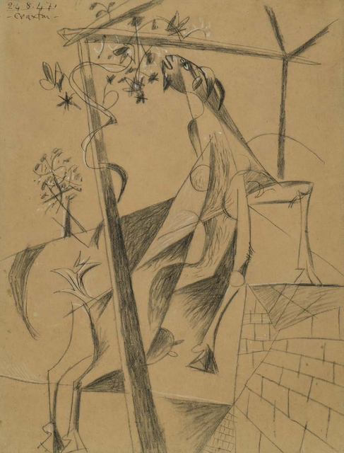 , 'Goat eating Foliage,' 1947, Osborne Samuel