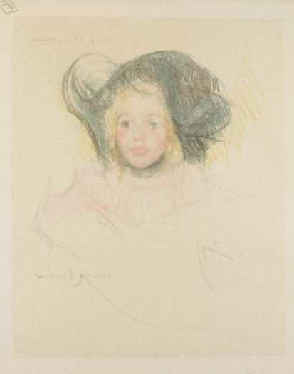, 'Head of Simone in a Green Bonnet with Wavy Brim (No. 2),' ca. 1901, Adelson Galleries