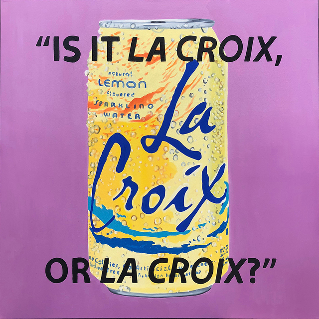 , 'Is It La Croix, Or La Croix?,' 2018, Roman Fine Art