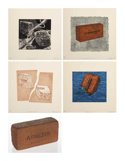 Robert Arneson, 'California Brick, Broken Brick, Moby Brick, New Brick/Old Stone, and Brick (five works)', 1975-1976, Heritage Auctions