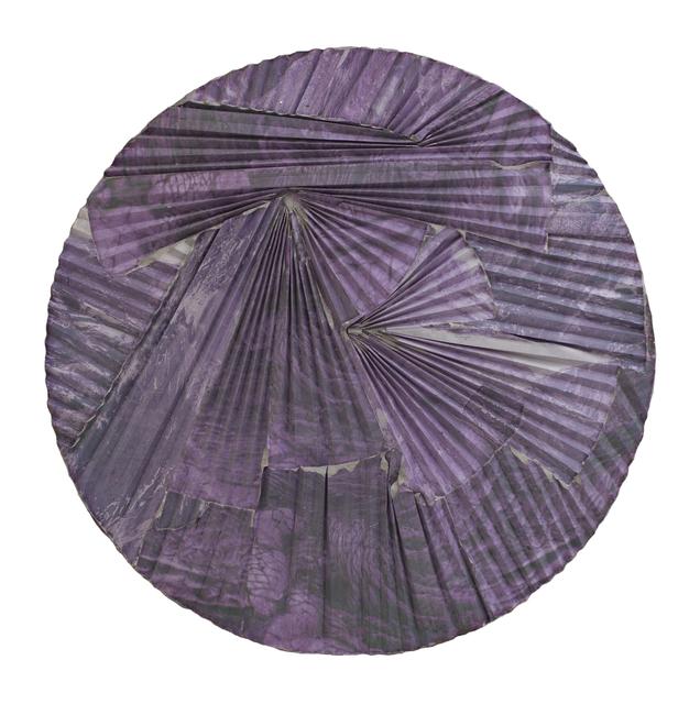 , 'Purple Lava Concrete Ripple Tondo,' 2016, Galerie Christophe Gaillard