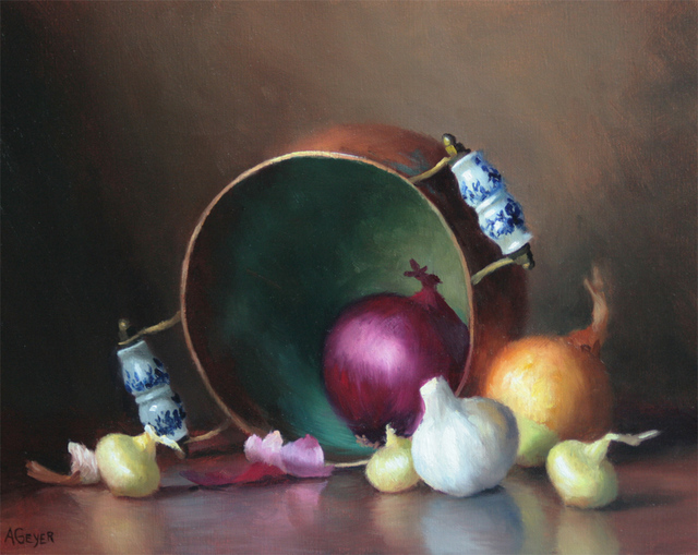 , 'Onions and Garlic,' 2019, The Guild of Boston Artists