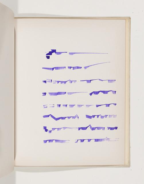 , 'Livre 3,' 1970, Drawing Center