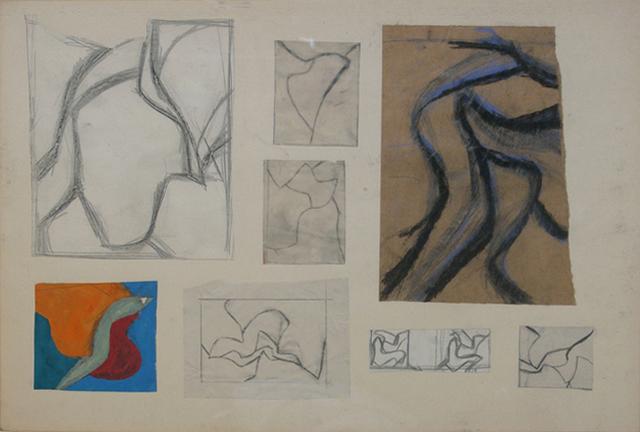 , 'Dibujos y gouaches preparatorios París,' 1959-1961, Rafael Ortiz