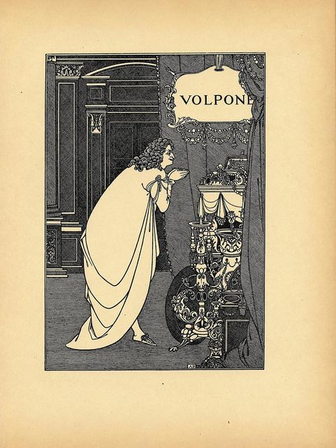 Aubrey Beardsley, 'Frontispiece from Volpone by Ben Jonson, printed in A Second Book of Fifty Drawings, by Aubrey Beardsley', ca. 1899, Print, Book page, Heroes Gallery