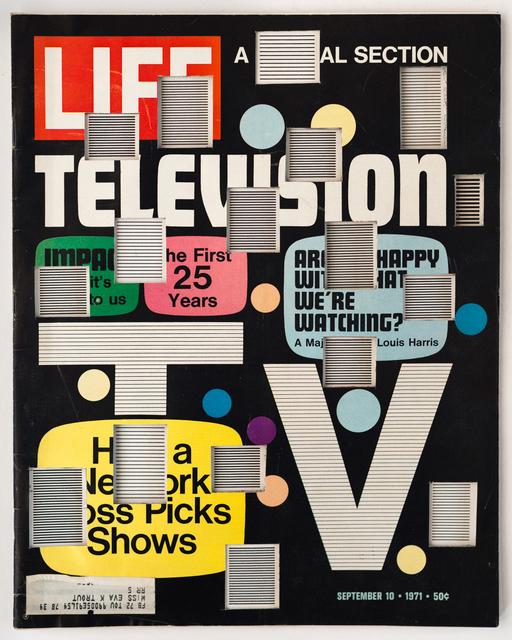 , 'LIFE  Cutout  No.  061  (September  10,  1971,  Television  Bars),' 2018, Luis De Jesus Los Angeles