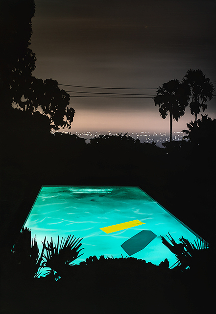 , 'Pool with Yellow Float,' 2019, Rebecca Hossack Art Gallery