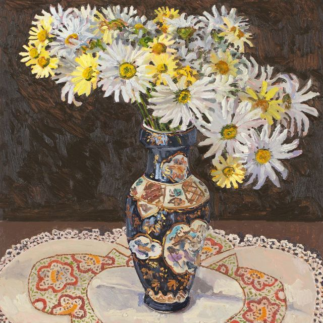 Lucy Culliton, 'Daisies, Chinese vase', 2018, Jan Murphy Gallery