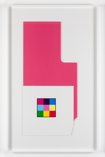Peter Saville, ''Radius-cut pink white' (from the 'metalanguage' series) ', 1980, Paul Stolper Gallery