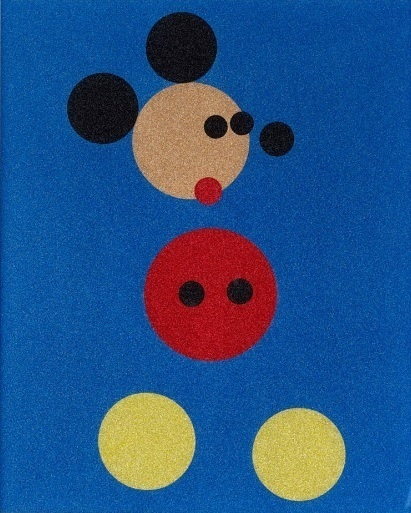 Mickey (Blue Glitter) - Small