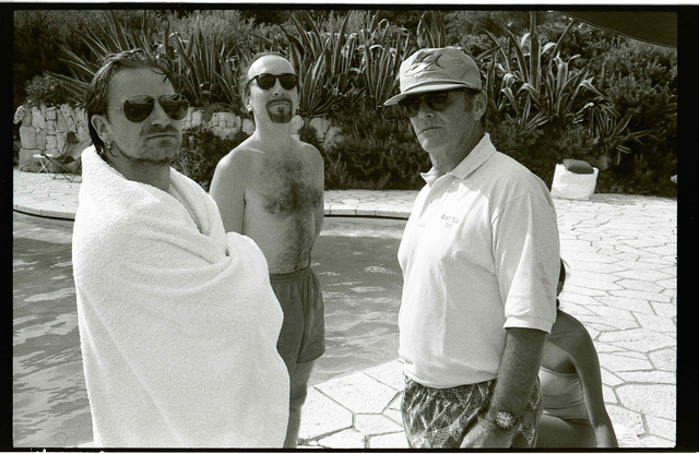 , 'Bono, Edge, and Jack Nicholson,' 1994, Gagosian