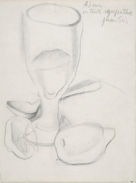 Juan Gris, 'Verre et Citron ', ca. 1911-18, Drawing, Collage or other Work on Paper, Charcoal on paper, Galerie Jean-François Cazeau