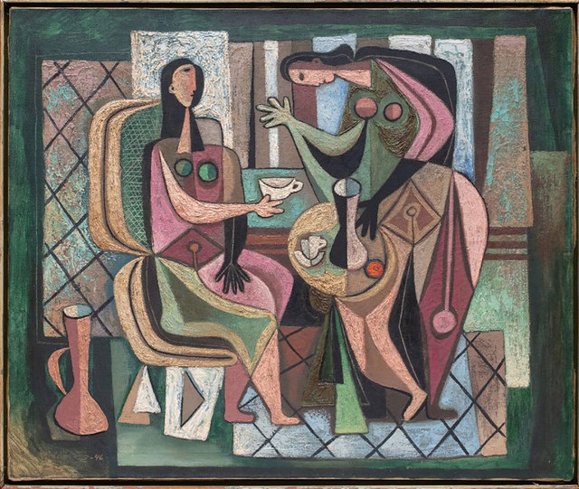 Mario Carreño, 'Woman at the Table', 1946, Robert Fontaine Gallery